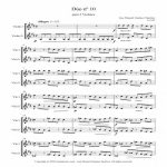 Artandscores | Sheet music for 2 Violins X – Level of difficulty: Moderate