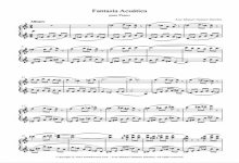Sheet music for Piano III - Level of difficulty: Moderate