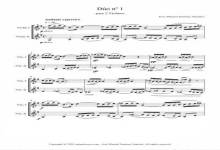 Sheet music for 2 Violins I – Level of difficulty: Moderate
