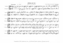 Sheet music for 2 Violins VI – Level of difficulty: Moderate