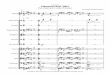 Sheet music for String Orchestra and Percussion- Level of difficulty: Moderate
