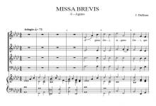 Agnus Dei, from Missa Brevis – Jacob de Haan