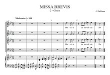 Gloria from Missa Brevis - Jacob de Haan