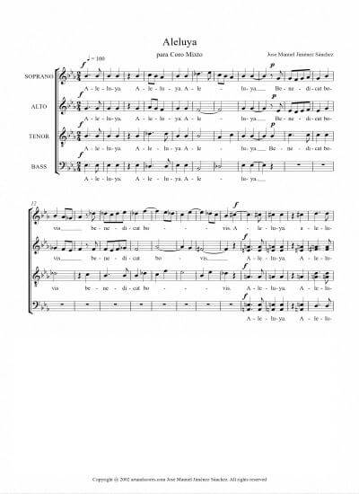 Sheet music for Choir - Level of difficulty: Moderate