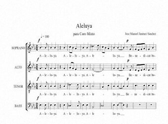 Sheet music for Choir I - Level of difficulty: Moderate