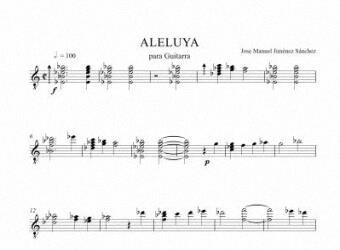 Sheet music for Guitar - Level of difficulty: Moderate
