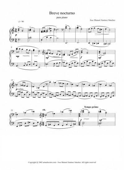 Sheet music for Pianbo I – Level of difficulty: Easy