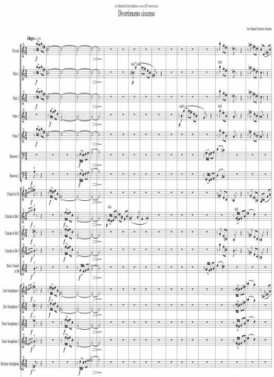 Sheet music for Symphonic Band - Level of difficulty: Moderate