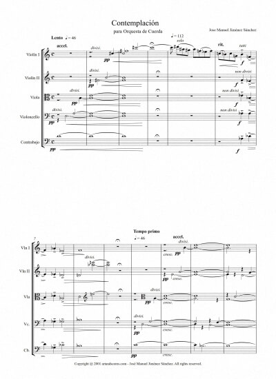 Sheet music for String Orchestra I - Level of difficulty: Moderate