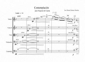 Partitura para Orquesta de cuerda I - Nivel de dificultad: Moderado