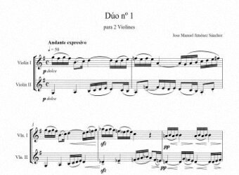 Sheet music for Violin I - Level of difficulty: Moderate