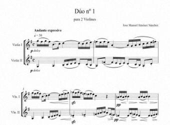 Artandscores | Partitura para 2 violines I - Nivel de dificultad: Moderada