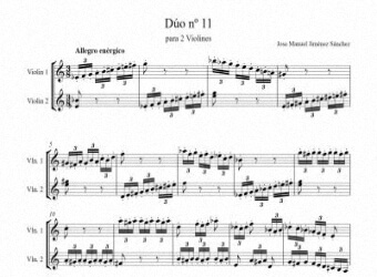 Sheet music for 2 violins XI - Level of difficulty: Moderate
