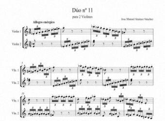Artandscores | Partitura dúo violín XI - Nivel de dificultad: Moderada