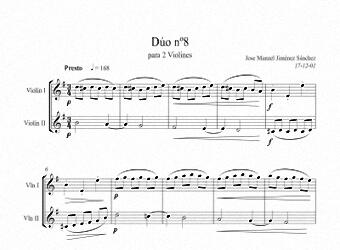 Artandscores | Partitura dúo violín VIII - Nivel de dificultad: Moderada