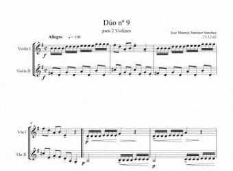 Sheet music for Violin IX - Level of difficulty: Moderatey