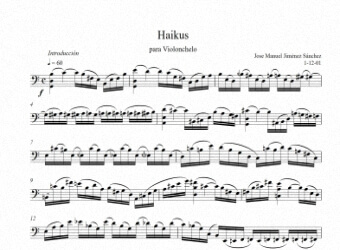 Sheet music for violoncello - Level of difficulty: Moderate
