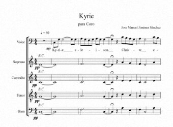 Sheets music for Choir III - Level of difficulty: Easy