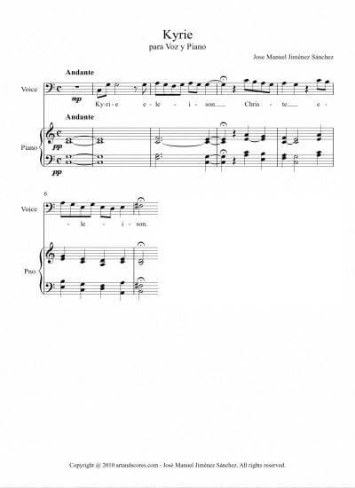 Sheet music for Singer II - Level of difficulty: Moderate