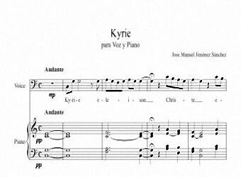 Partitura para Voz y Piano I - Nivel de dificultad: facil