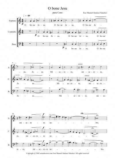 Sheet music for Choir VI - Level of difficulty: Moderate