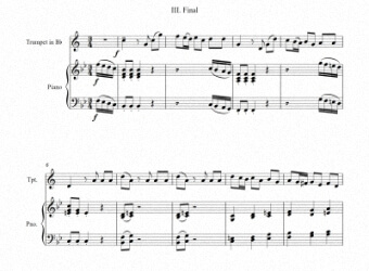 Sheets music for trumpet and piano III - Level of difficulty: Moderate © artandscores.com
