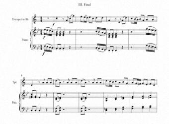 Partitura para trompeta y piano III - Nivel de dificultad: Moderado © artandscores.com