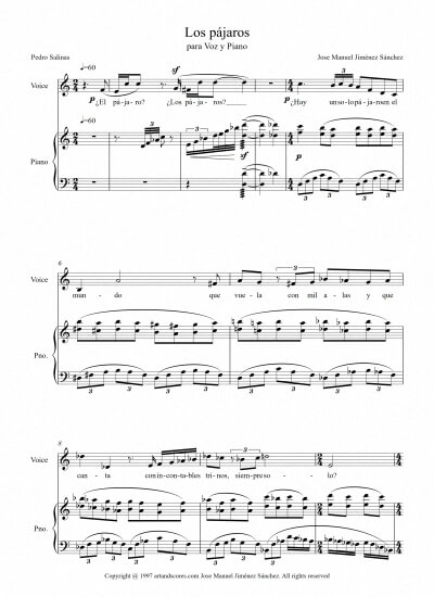 Sheet music for Singer IV - Level of difficulty: Moderate