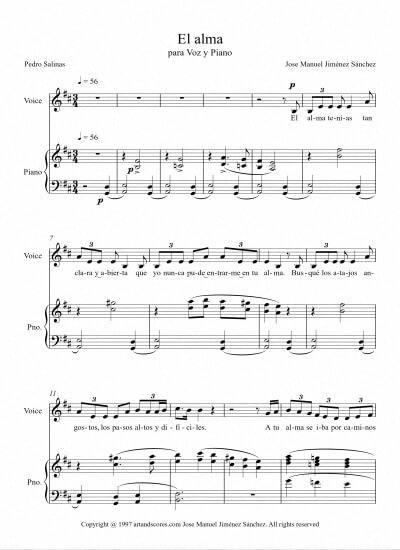 Sheet music for Singer I - Level of difficulty: Moderate