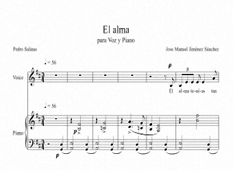 Sheets music for Voice and Piano I - Level of difficulty: Moderate