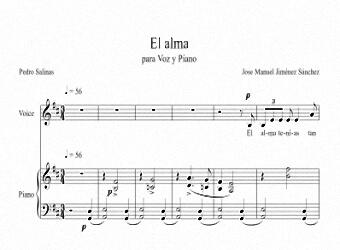 Partitura para Voz y Piano I - Nivel de dificultad: Moderado
