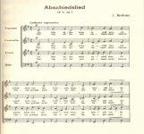 Abschiedslied - J. Brahms | artandscores.com