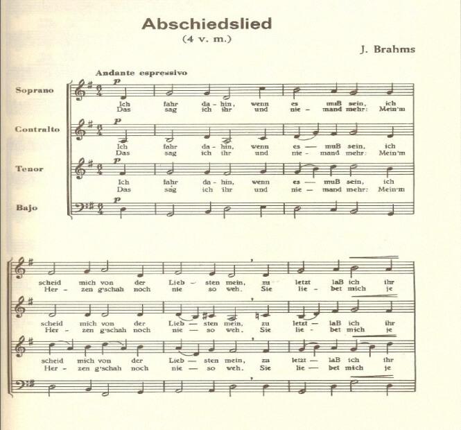 Abschiedslied - Brahms