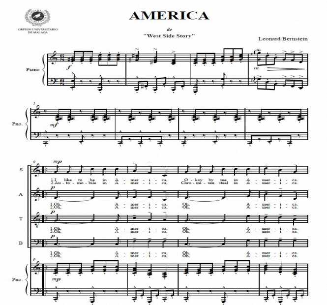 Artandscores | America - Leonard Bernstein