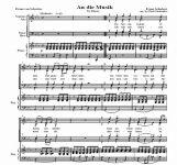 An die musik - Franz Schubert | artandscores.com