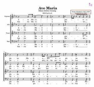 Ave Maria - Schubert chorus sheet music
