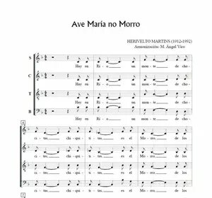 Ave Maria no morro, for choir SATB. Free Sheet Music a capella