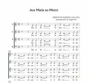 Ave Maria no morro, for choir SATB. Free Sheet Music a capella