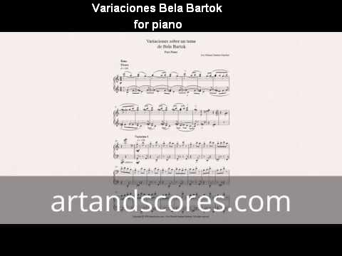 Bela Bartok - variations about a piece. Piano Sheet music © Artandscores.com