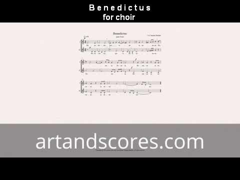 Benedictus, for choir. Voice Sheet music © Artandscores.com