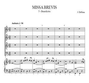 Benedictus from Missa Brebis - Jacob de Haan, for choir and concert band or organ