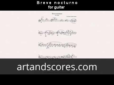 Brevenocturno, for guitar sheet music © Artandscores.com