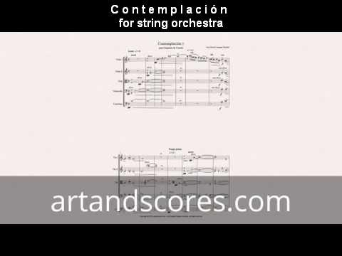 Contemplacion, for string orchestra. Sheet music © Artandscores.com
