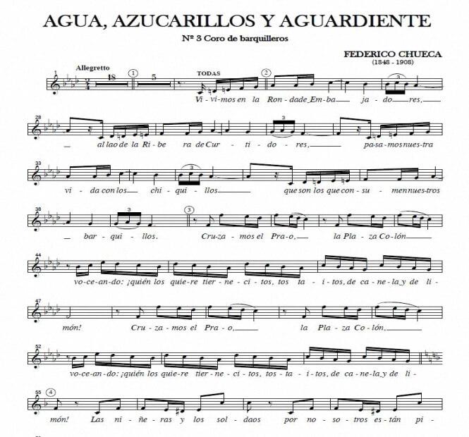 Artandscores   Coro de barquilleros - F. Chueca (Zarzuela)