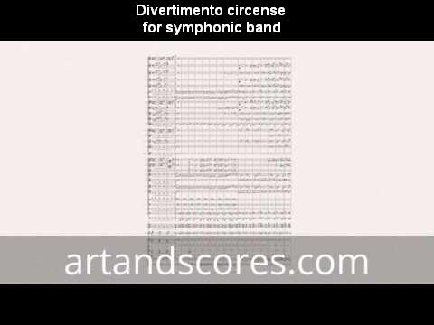 Divertimento, sheet music for symphonic band © artandscores