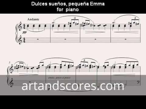 Artandscores | Dulces sueños, pequeña Emma, partitura para Piano