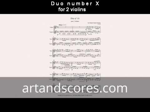 Artandscores | Duo number X, for 2 violins