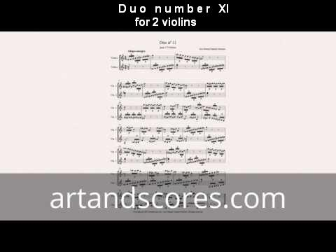 Artandscores   Duo número XI, para 2 violines