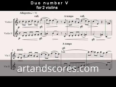 Artandscores   Duo número V, para 2 violines