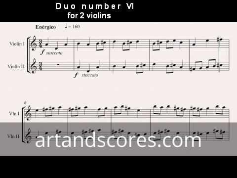 Artandscores   Duo número VI, para 2 violines